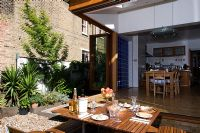 Modern extension and outdoor dining area