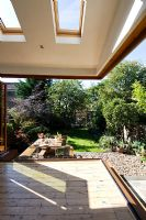Modern garden and extension