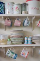 Kitchen shelves with crockery