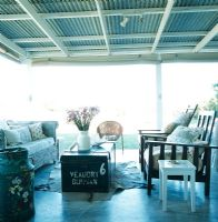 Veranda with corrugated roof
