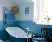 Country style blue bathroom