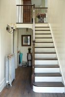Classic wooden hallway and staircase