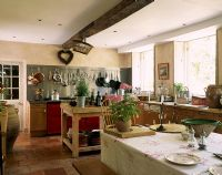 Country kitchen and dining room