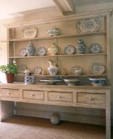 Antique dresser with crockery