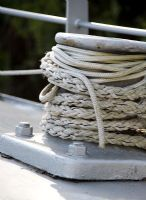 Houseboat rope detail