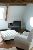 Living room in loft space