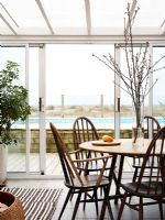 Dining room in modern conservatory