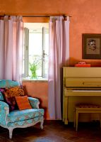 Piano in country house