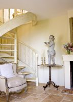 Spiral staircase in classic house