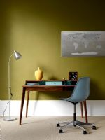 Modern study with retro furniture
