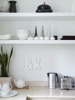 Modern kitchen worktop and shelves