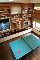 Modern library with table tennis table