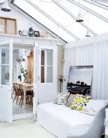 Living area in modern conservatory