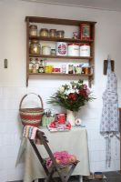 Country kitchen with vintage furnishings