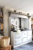 Aga in country kitchen