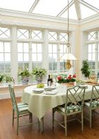 Classic dining room in conservatory