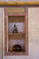 Alcove with shelves