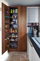 Integrated larder and tambour unit