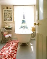 Eclectic country bathroom