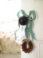 Classic door knob with Christmas decorations
