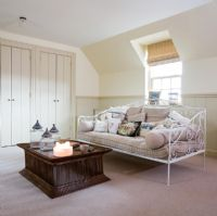 Daybed in modern country bedroom