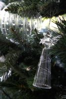 Detail of Christmas tree decorations