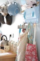 Aprons and accessories in modern kitchen