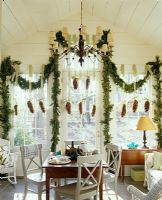 Classic dining room with Christmas decorations