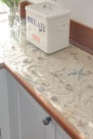 Novelty nautical kitchen worktop detail