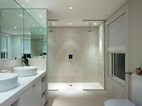 Modern bathroom with double shower