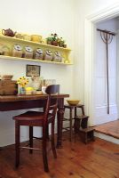Vintage furniture in classic kitchen