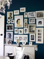 Photo wall in dining room