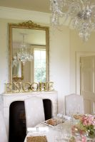 Classic dining room detail