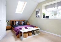 Modern loft conversion bedroom