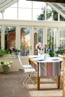 Country dining room in conservatory