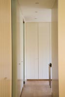 Fitted cupboards in hallway