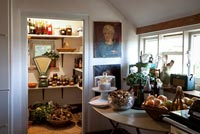 Country kitchen with pantry