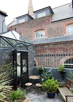 Classic conservatory and roof terrace