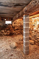 Stone walls in basement