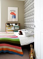 Colourful bed