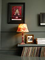 Eclectic living room detail