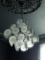 Vintage light and ceiling rose