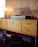 Sideboard with stereo