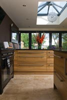 Modern wooden kitchen units