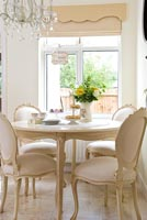 Ornate dining table and chairs