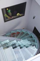 Contemporary staircase from above