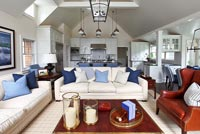 Classic open plan living room