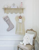 Classic girl's bedroom detail