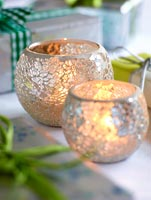 Silver tea light holders