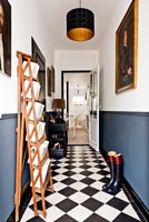 Classic entrance hall with ladder used to store books
